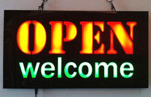 Open Welcome Led Neon Sign Neonsignly.com