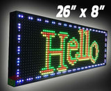 "Outdoor LED Sign 26"" x 8"""