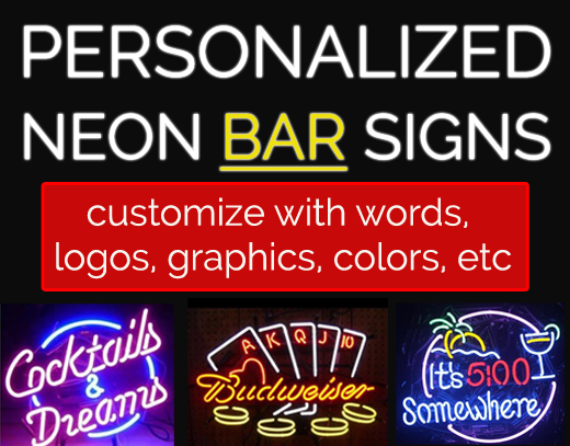 Personalized Neon Bar Signs
