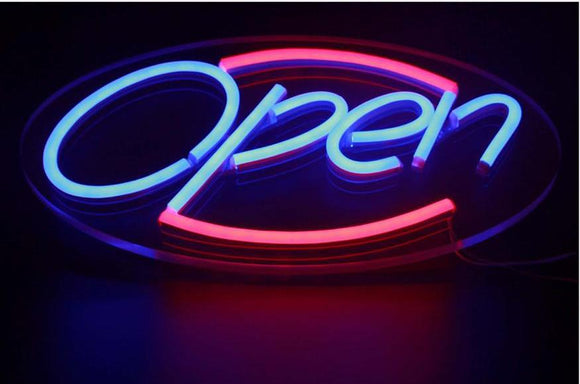 LED Neon Open Sign with 12V ultra bright led neon light tubes