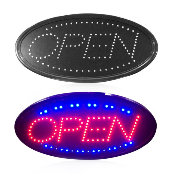Small Oval Open LED Sign