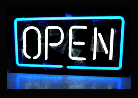 Bright Open Neon Sign - 5 Different Colors To Choose From