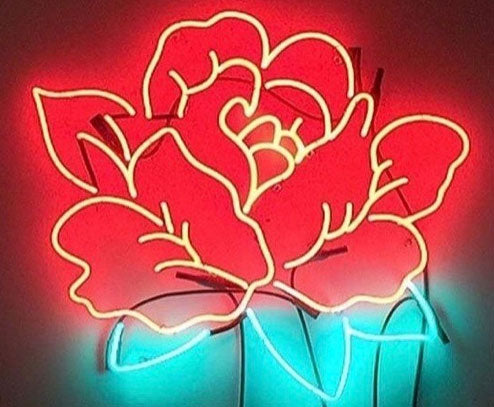 Custom Rose Neon Sign