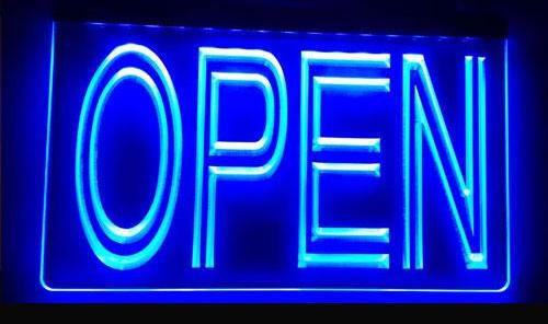 Affordable LED Open Sign - Comes In 3 Colors
