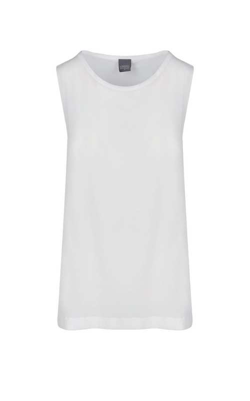 Lorena Antoniazzi Washed Silk Tank Natural