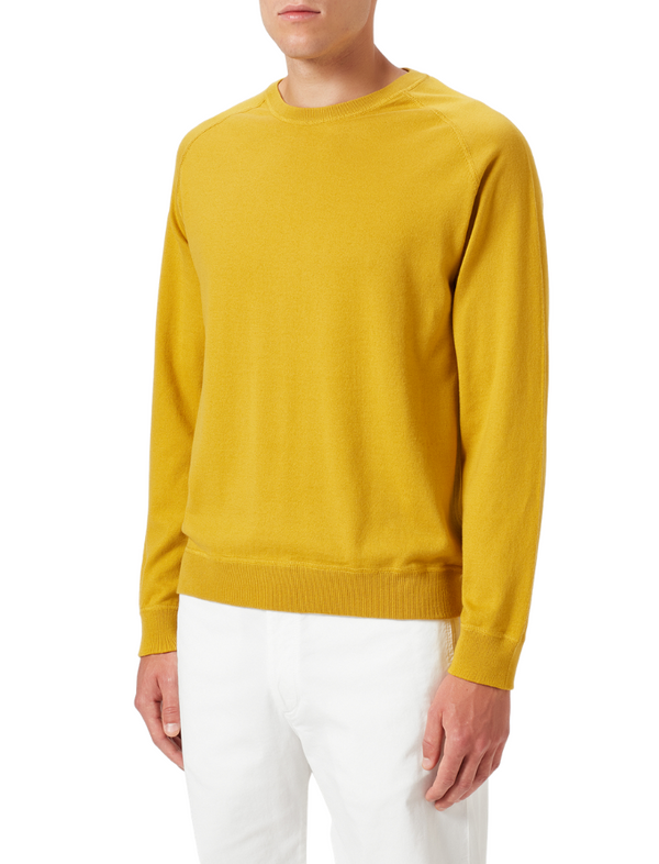 Massimo Alba Men's Mustard Sport Knit Jumper Woollahra Sydney Luxury Fashion Boutique Australia Online Riada Concept Luxury Fashion Boutique
