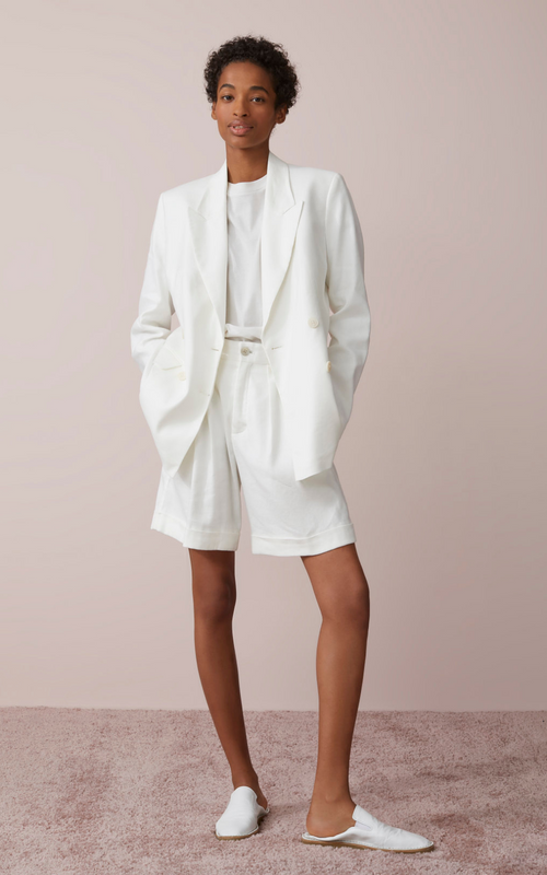 Closed White Linen and Lyocell Blazer Online Australia Riada Concept