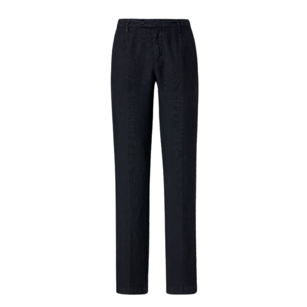 Massimo Alba Men's Navy Blue Ionio2 Linen Trousers Woollahra Sydney Australia Online Riada Concept Luxury Fashion Boutique