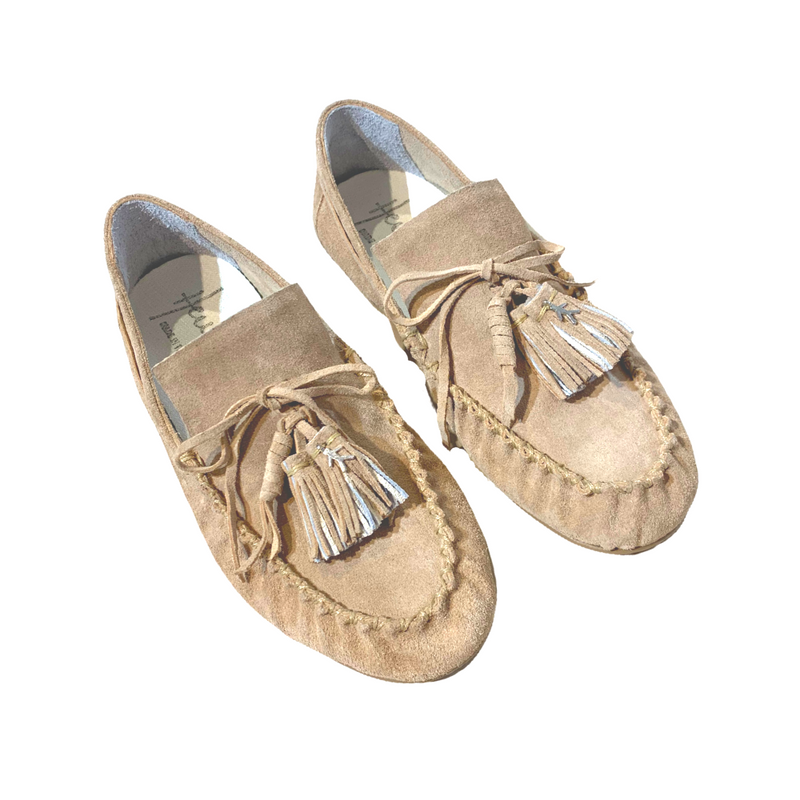 Henry Beguelin Suede Car Shoe Loafer in Beige Woollahra Sydney Australia Online Riada concept Luxury Fashion Boutique
