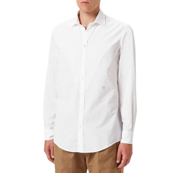 Massimo Alba Men's Cotton Canary Shirt in White Riada Concept  Luxury fashion boutique woollahra Sydney Australia online
