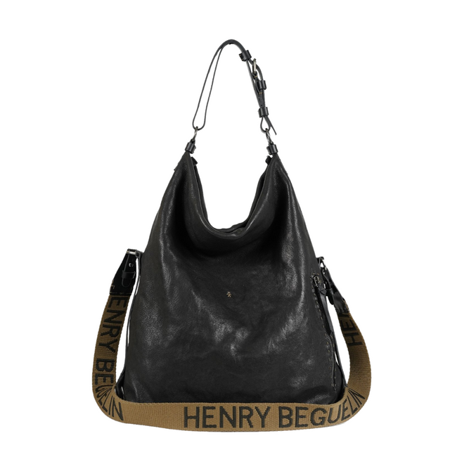 Henry Beguelin Dollezza Rectangular bag with silver stitching