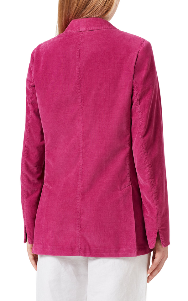 Massimo Alba Carlotta 2 Double-Breasted Baby Corduroy Jacket in Magenta Riada Concept Woollahra Sydney Australia online luxury boutique