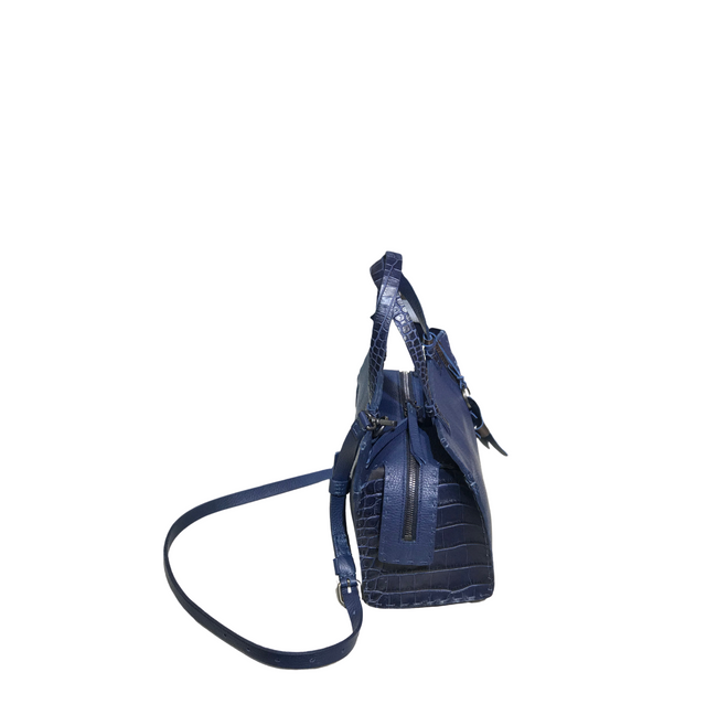 Henry Beguelin BD4415 Adriana Medium Bag in Navy