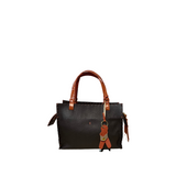 Henry Beguelin Adriana Medium in Black with Tan BD4415