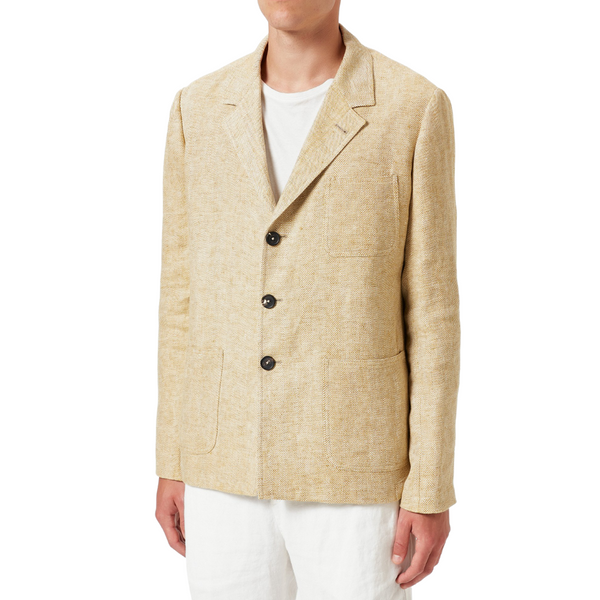 Massimo Alba Alma Baglietto Single-breasted Linen Herringbone Jacket Woollahra Sydney Australia Online Fashion Boutique Luxury Riada Concept