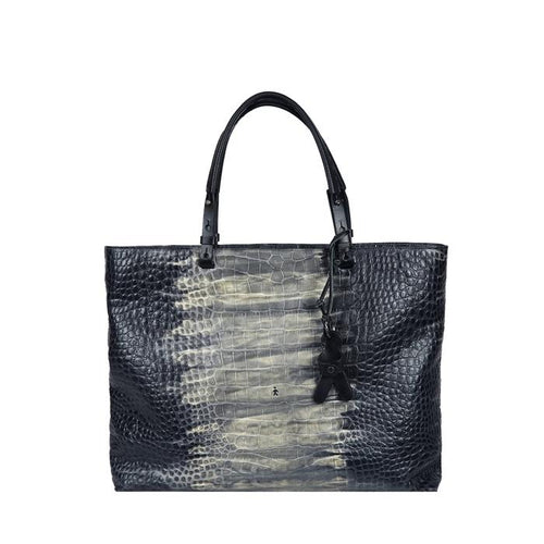 Henry Beguelin Medium Amica Black Croc Tote Online Australia Riada Concept Sydney Woollahra Luxury fashion boutique