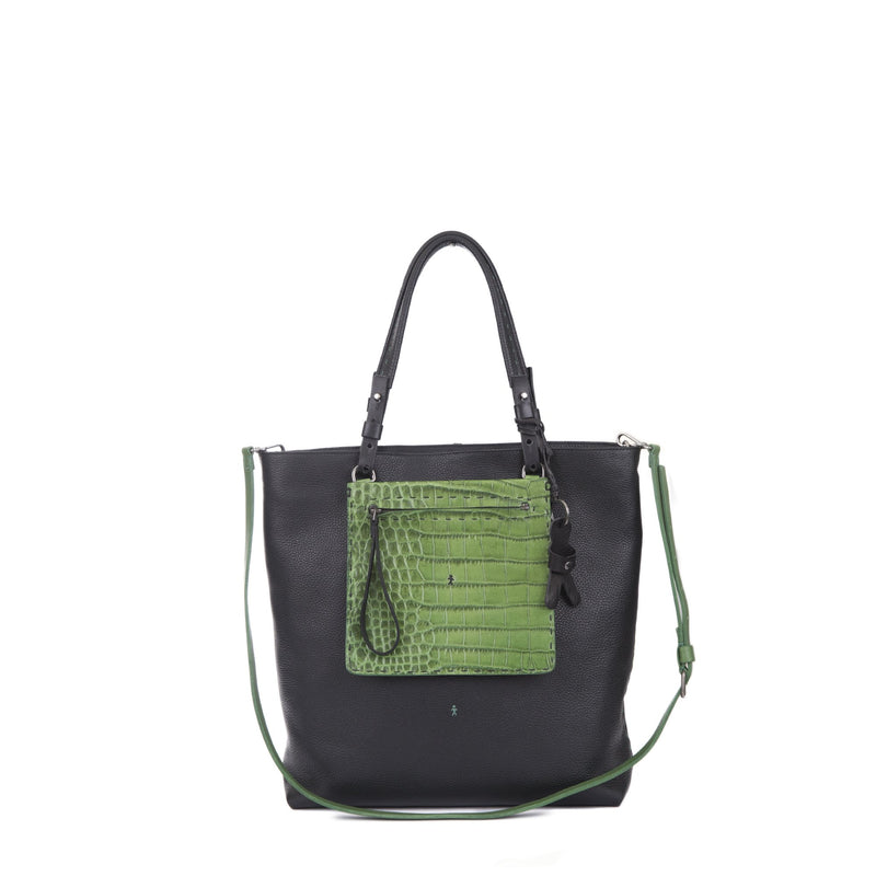 Henry Beguelin BD4403 Amica Zip Black Shopping Tote