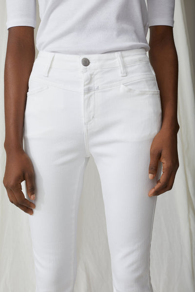 Closed Denim Skinny Pusher Power Stretch White Denim Shop online Closed Denim Australia Riada Concept