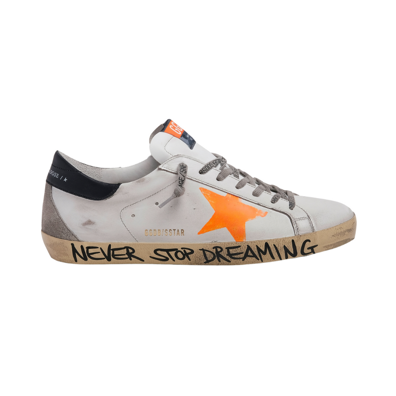 Golden Goose Mens Super-Star Sneakers with Printed Orange Star Sydney Woollahra Australia Online Riada Concept Luxury Boutique