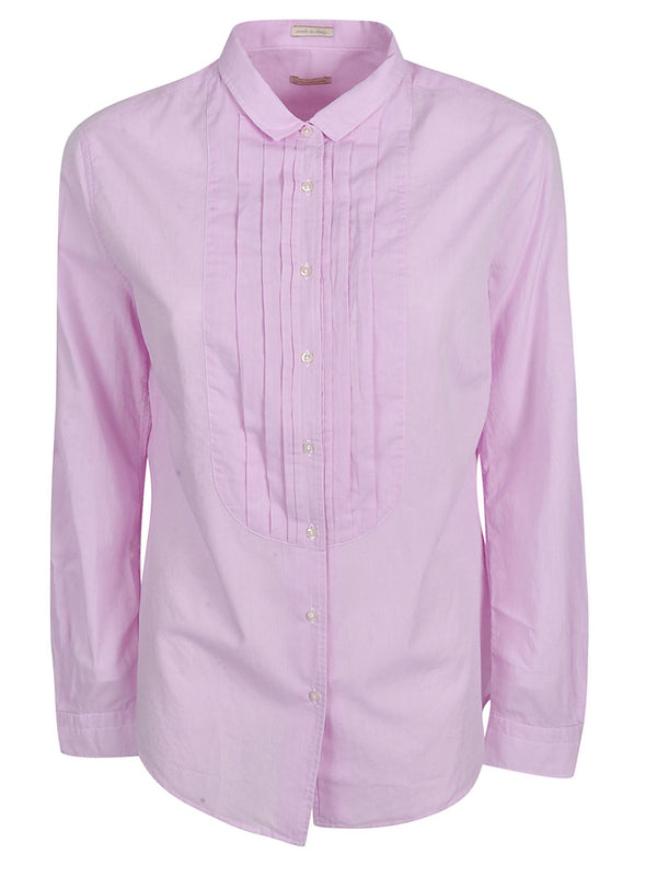 Massimo Alba Julie Pleated Shirt Pink