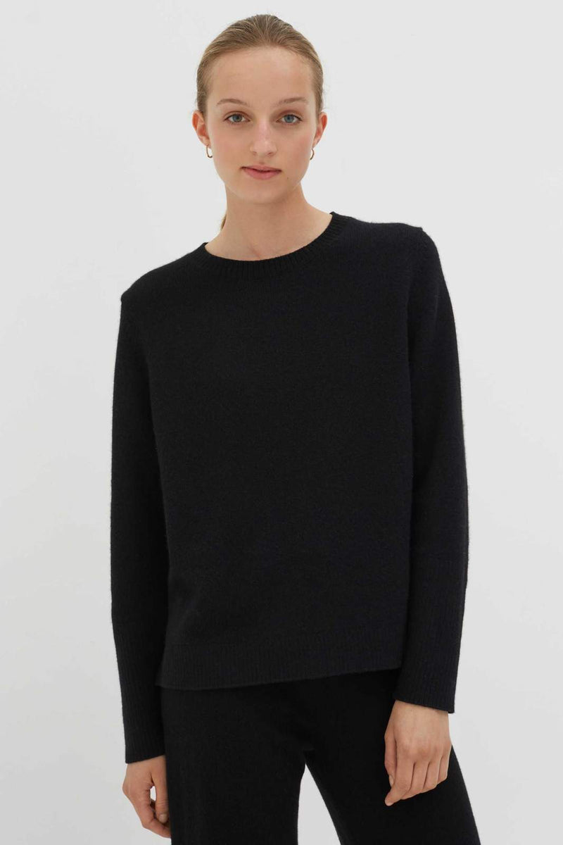 Chinti and Parker Black Cashmere Boxy Sweater