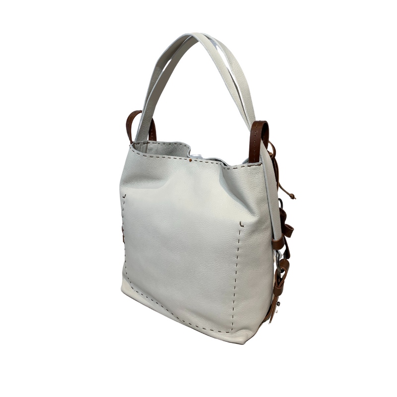 Online Austaralia Riada Concept Sydney Woollahra Luxury Fashion Boutique Henry Beguelin Medium Olimpia Zanio Handbag / Backback in White