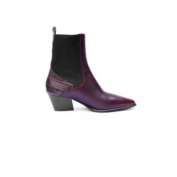 Henry Beguelin Western Heeled Ankle Boot in Chianti Online Australia Riada Concept Sydney Woollahra Luxury fashion boutique