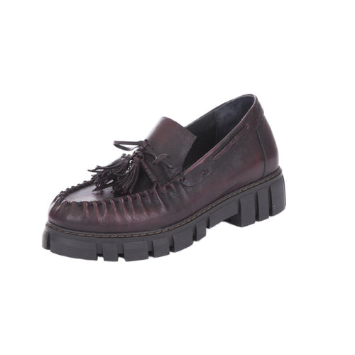 Henry Beguelin Chianti Leather Moccasin Shoes SD4434