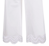 P.a.r.o.s.h Cojour Cotton White Cropped pants