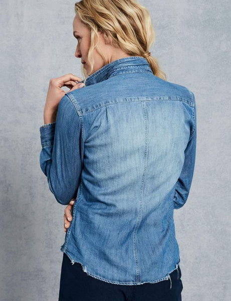 Frank & Eileen Barry Denim Shirt Stockist online Australia Riada Concept Woollahra Luxury Fashion Boutique