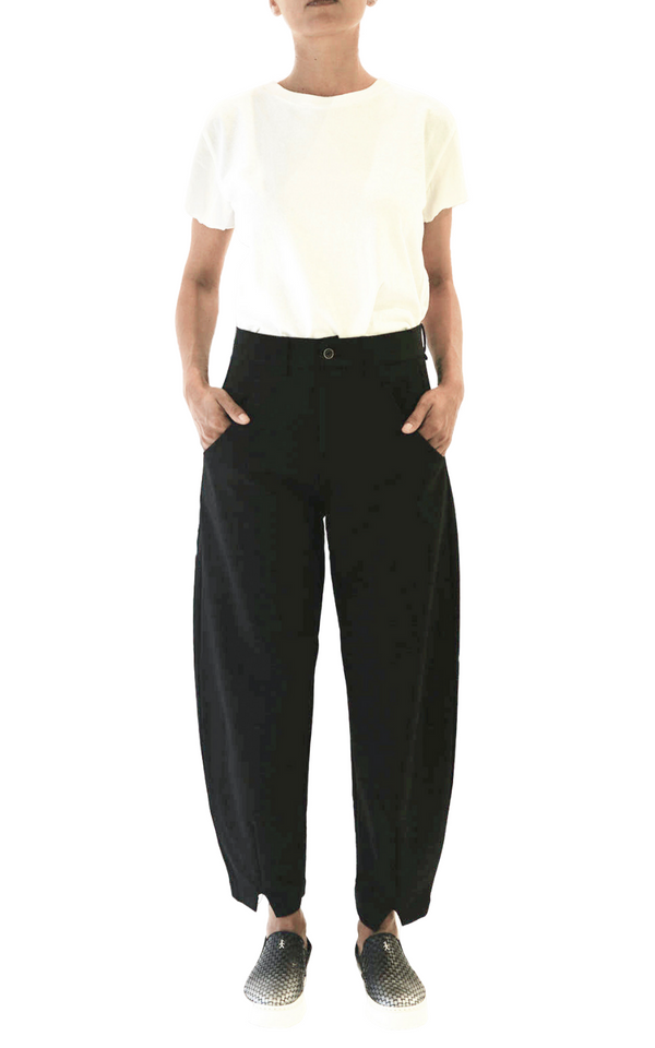 Transit Par Such Relaxed Black Pants - FINAL SALE
