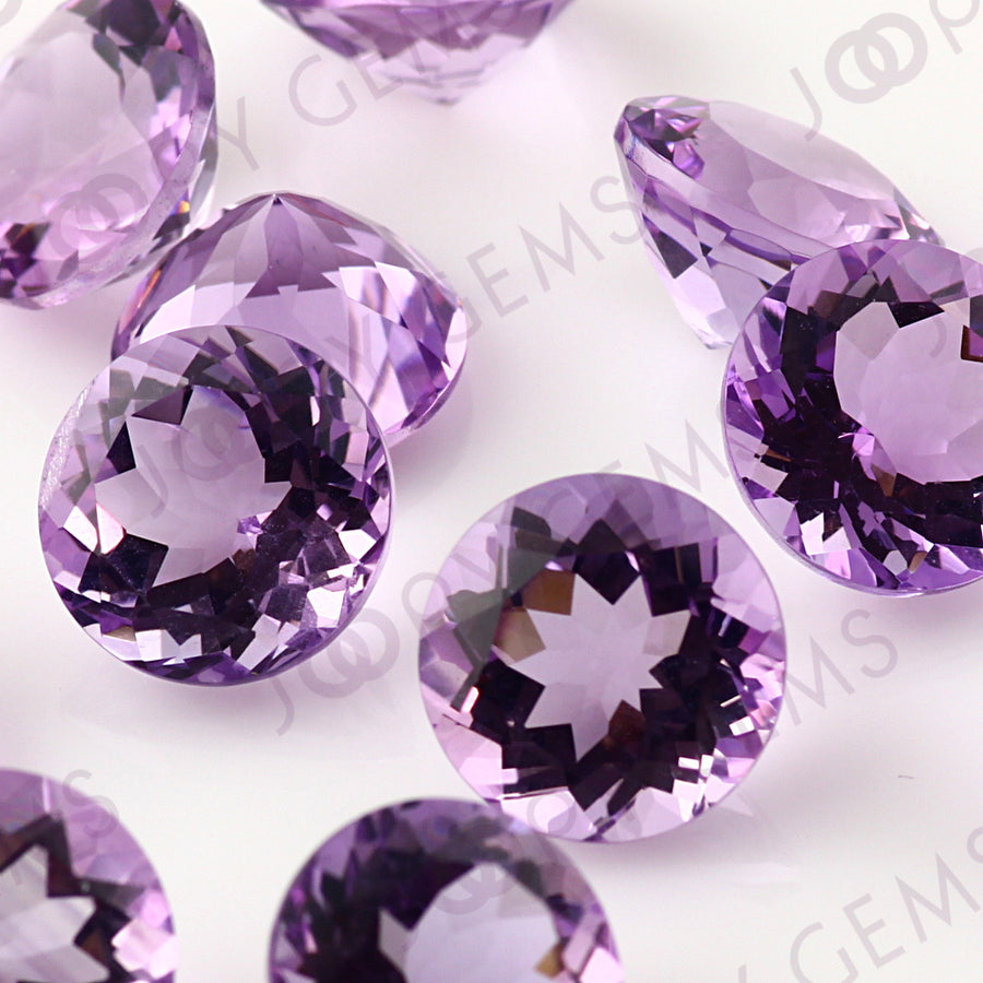 Joopy Gems Amethyst (Brazilian) Brilliant Cut Gemstone 10mm Round