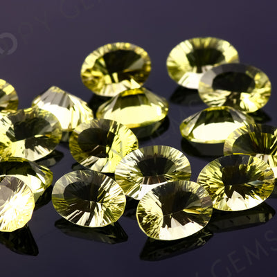 Joopy Gems Lemon Quartz Concave Cut 10x14mm Oval