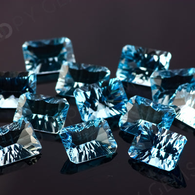 Joopy Gems Sky Blue Topaz Concave Cut 10x14mm Octagon