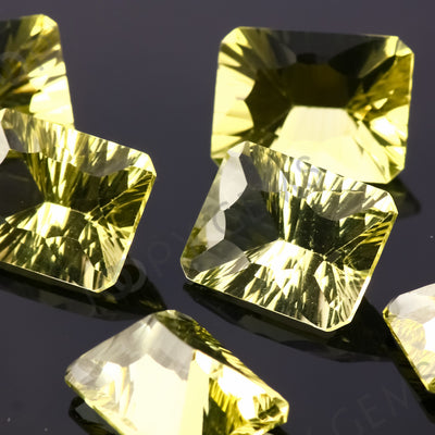 Joopy Gems Lemon Quartz Concave Cut 12x16mm Octagon