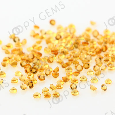 Joopy Gems Citrine Rose Cut Cabochon 2mm Round