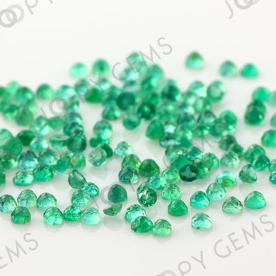 Joopy Gems Emerald Rose Cut Cabochon 2mm Round