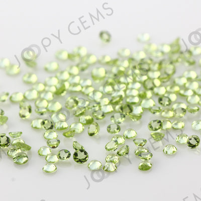 Joopy Gems Peridot Rose Cut Cabochon 2mm Round
