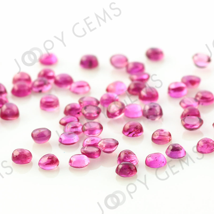 Joopy Gems Ruby Cabochon 2mm Round