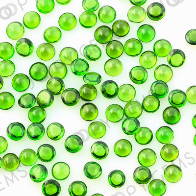 Joopy Gems Chrome Diopside Cabochon 3mm Round