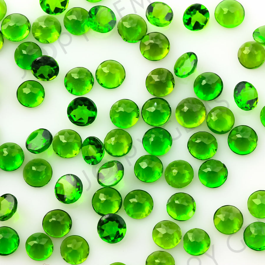 Joopy Gems Chrome Diopside Rose Cut Cabochon 3mm Round