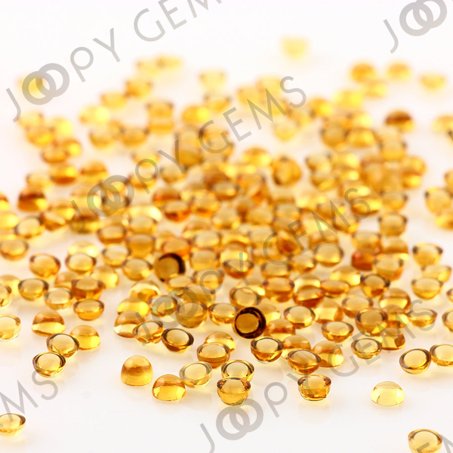 Joopy Gems Citrine Cabochon 3mm Round
