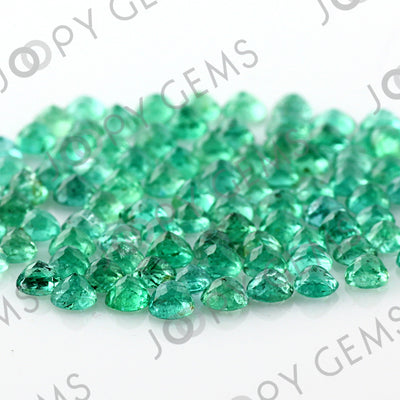 Joopy Gems Emerald Rose Cut Cabochon 3mm Round