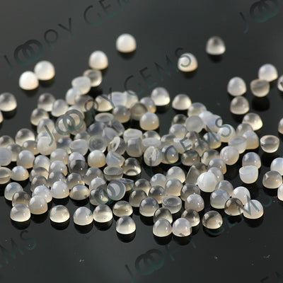 Joopy Gems Grey Moonstone Cabochon 3mm Round