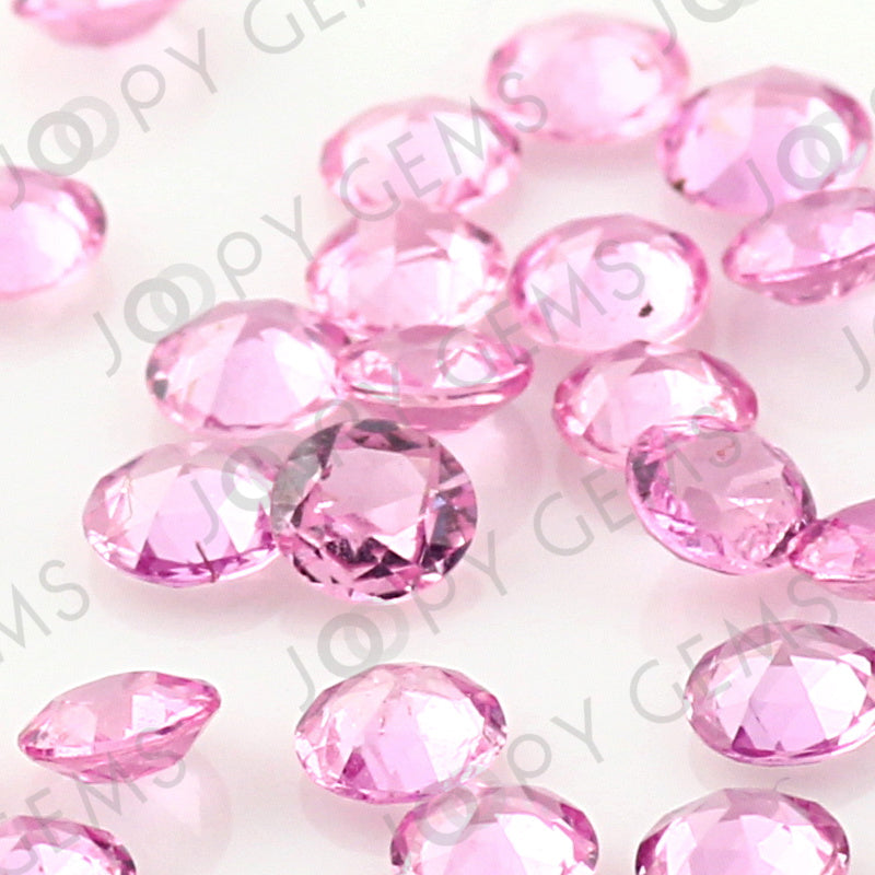 Joopy Gems Pink Sapphire Rose Cut Cabochon 3mm Round