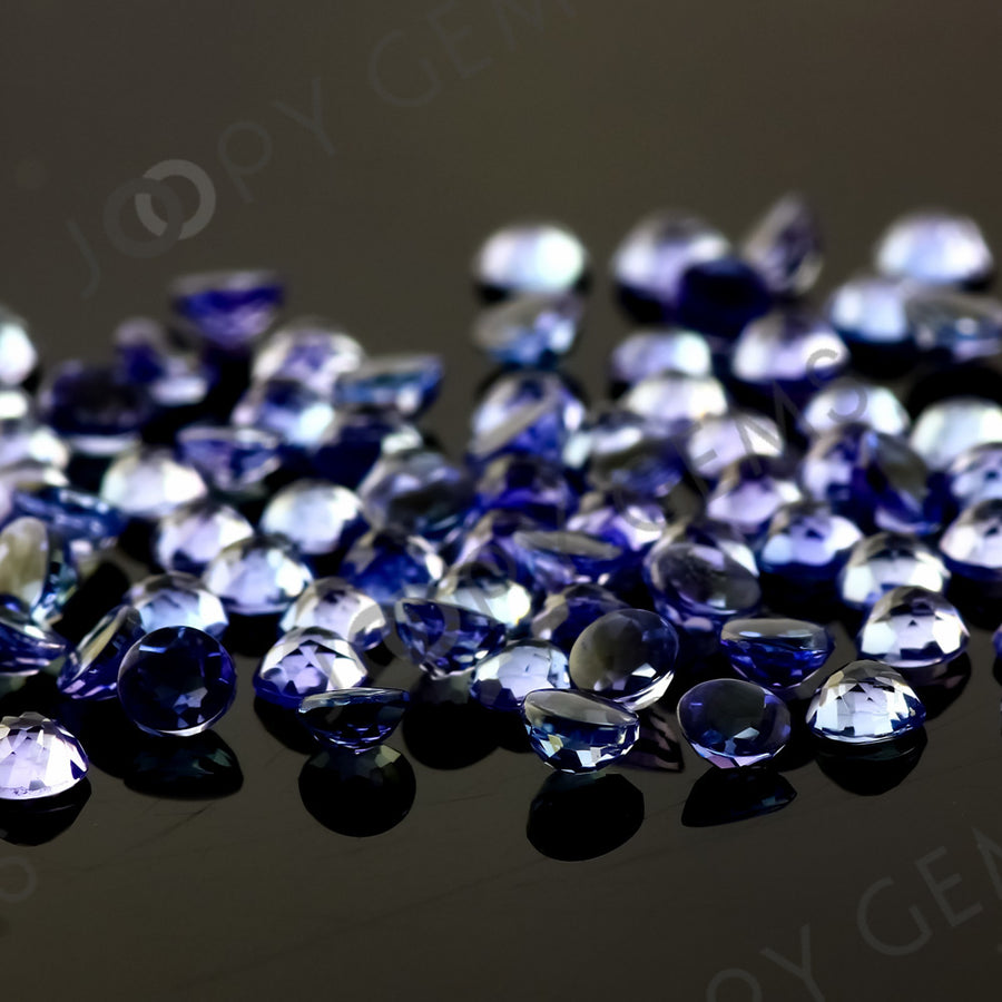 Joopy Gems Tanzanite Rose Cut Cabochon 3mm Round