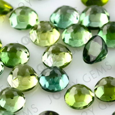 Joopy Gems Green Tourmaline Rose Cut Cabochon 3mm Round