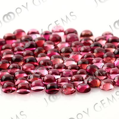 Joopy Gems Dark Orange-Pink Tourmaline Cabochon 3mm Round