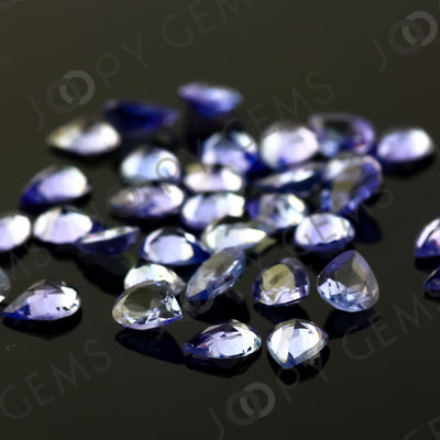 Joopy Gems Tanzanite Rose Cut Cabochon 3x4mm Pear