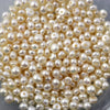 Joopy Gems White Cultured Freshwater Pearls Half-Drilled Button 4-5mm